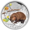 2014 $20 Fine Silver Coin Baby Animals: The Beaver