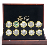 2014 $10 Fine Silver with Gold Plating Coin Set - O Canada