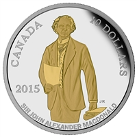 2015 $10 Fine Silver Coin - 200th Anniversary of the Birth of Sir John A. Macdonald