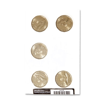 2014 $1 Lucky Loonie Circulation 5-Pack