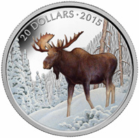 2015 $20 Fine Silver Coin - The Majestic Moose