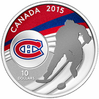 2015 $10 Fine Silver Coin - Montreal Canadiens