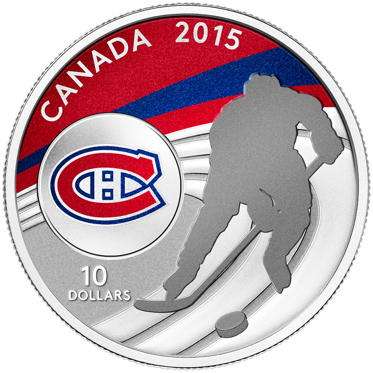 2015 10 Fine Silver Coin Montreal Canadiens Royal