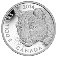 2014 $5 Pure Platinum Coin - Cougar