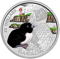 2014 $20 Fine Silver Coin - Baby Animals: Atlantic Puffin