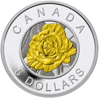 2014 $5 Fine Silver Coin - Flowers in Canada: Rose