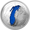 2015 $20 Fine Silver Coin - The Great Lakes: Lake Michigan