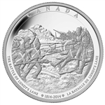 2014 $250 Fine Silver Coin Battle of Lundy's Lane