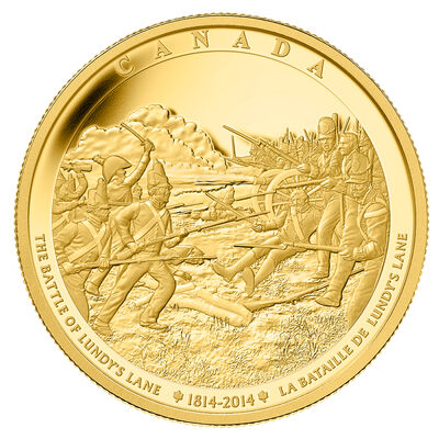 2014 $2500 Pure Gold Coin Battle of Lundy's Lane