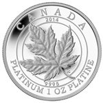 2014 $300 Platinum Coin - Maple Leaf Forever