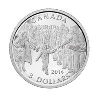 2014 $3 Fine Silver Coin - Wait for me, Daddy