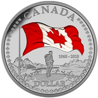 2015 Fine Silver Proof Set - 50th Anniversary of the Canadian Flag