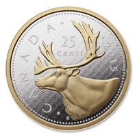 2015 25c Big Coin Series - 5oz Pure Silver (Caribou)  (Discounted)