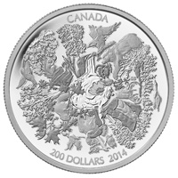 2014 $200 Fine Silver Coin - Towering Forests of Canada