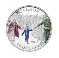 2014 $10 Fine Silver Coin - Wait for me, Daddy
