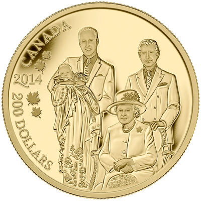 2014 $200 Pure Gold Coin - Royal Generations