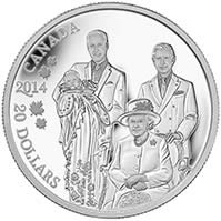 2014 $20 Fine Silver Coin - Royal Generations