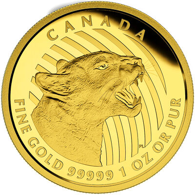 2015 $200 Pure Gold Coin - Growling Cougar