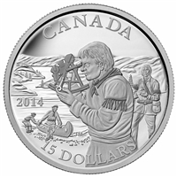 2014 $15 Fine Silver Coin - Exploring Canada: The Pioneering Mapmakers