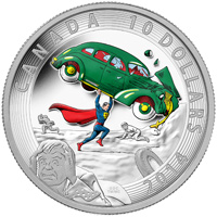 2014 $10 Fine Silver Coin - Iconic Superman - Comic Book Covers: Action Comics #1 (1938)