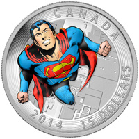 2014 $15 Fine Silver Coin - Iconic Superman Comic Book Covers: Action Comics #419 (1972)