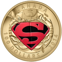 2014 $100 14KT Gold Coin - Iconic Superman - Comic Book Covers: Adventures of Superman #596 (2001)