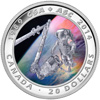2014 $20 Fine Silver Coin - 25th Anniversary of the Canadian Space Agency