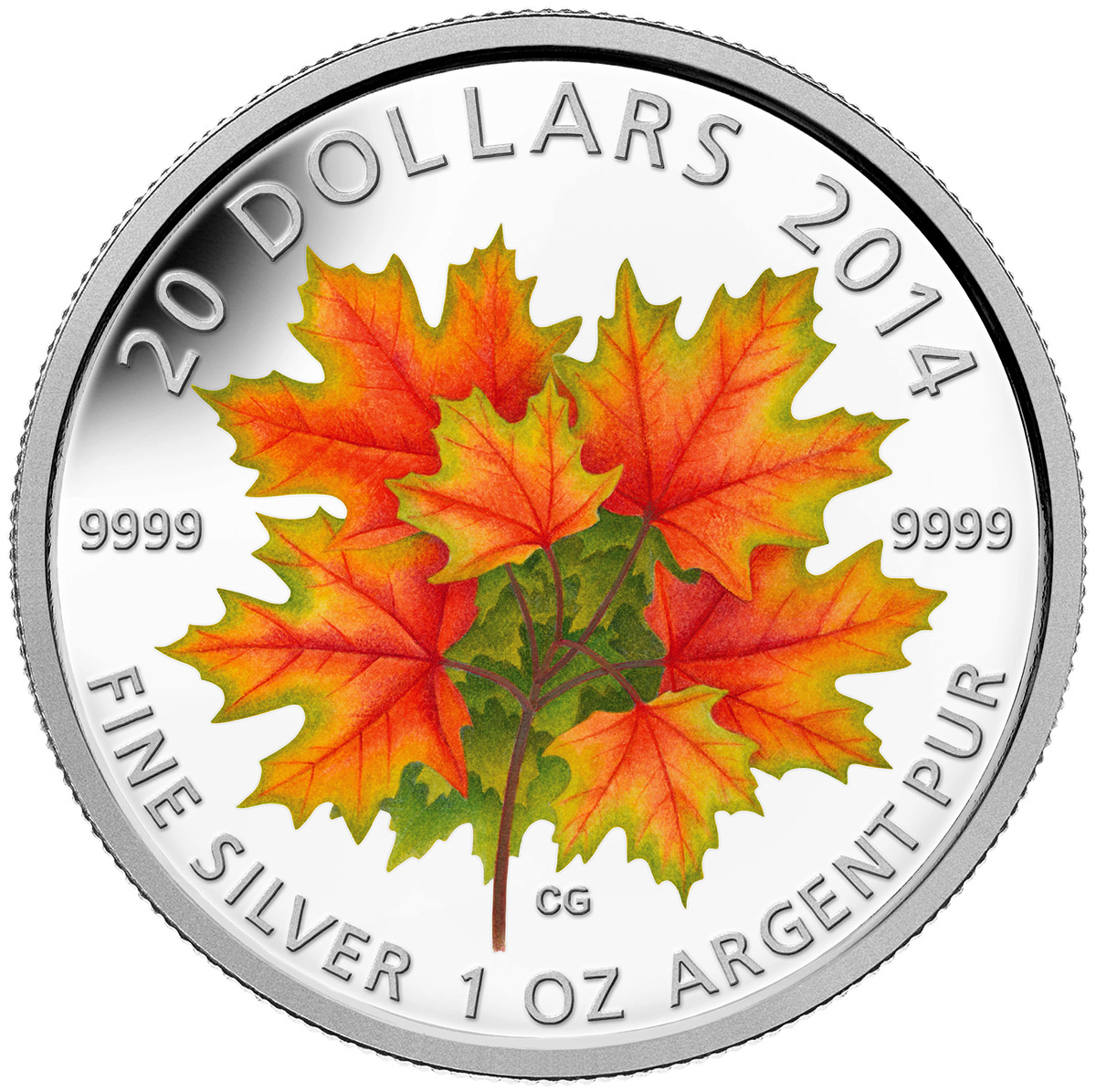 2014 Canadian 1oz Fine Silver Maple Leaf