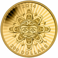 2014 $200 Pure Gold Coin - Interconnection: Air - The Thunderbird
