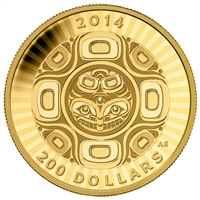 2014 $200 Pure Gold Coin - Interconnection: Sea - The Orca