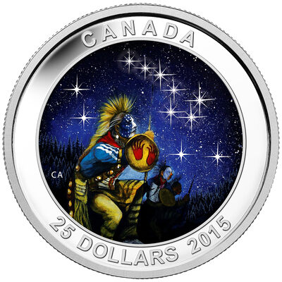 2015 $25 Fine Silver Coin - Star Charts: The Quest