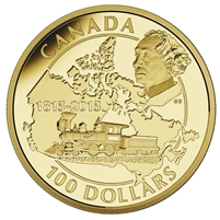 2015 $100 Gold Coin - 200th Anniversary of the Birth of Sir John A. Macdonald