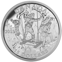 2015 $15 Fine Silver Coin - Exploring Canada: The Wild Rivers Exploration