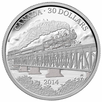 2014 $30 Fine Silver Coin - 100th Anniversary of the Completion of the Grand Trunk Pacific Railway