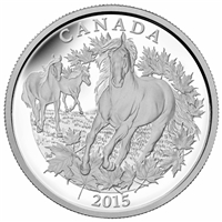 2015 $125 Fine Silver Coin - Canadian Horse