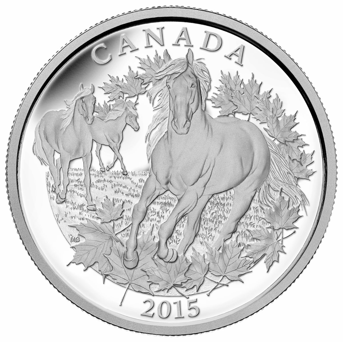2015 125 Fine Silver Coin Canadian Horse Royal