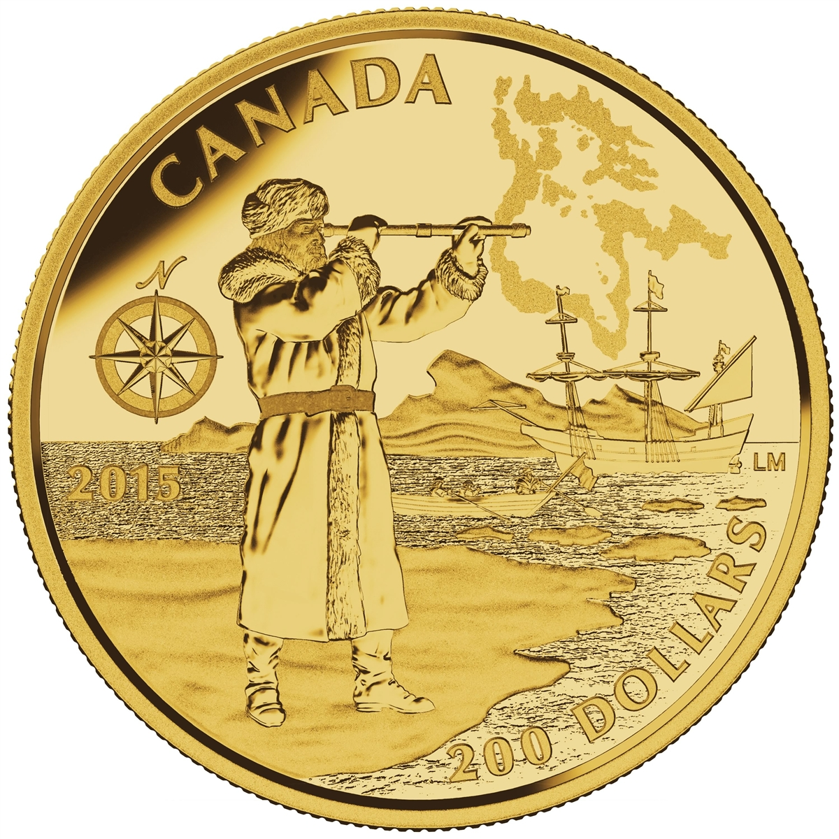 2015 200 Pure Gold Coin Great Canadian Explorers Henry