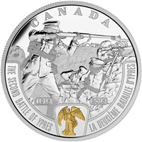 2015 $20 Fine Silver Coin - First World War: Battlefront Series: The Second Battle of Ypres