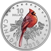 2015 $10 Fine Silver Coin - Colourful Songbirds of Canada: The Northern Cardinal