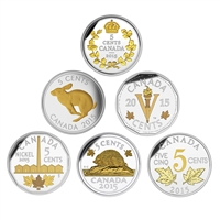 2015 5c Fine Silver Coin Set - Legacy of the Canadian Nickel