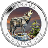 2015 $20 Fine Silver Coin - Wolf
