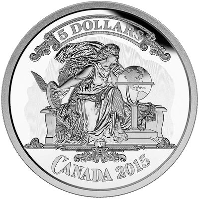 2015 $5 Fine Silver Coin - Bank Note Series: Canadian Banknot Vignette
