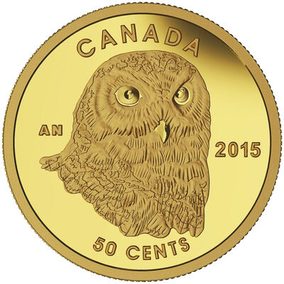 2015 50c Pure Gold Coin - Owl