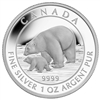 2015 $5 Fine Silver - Polar Bear and Cub