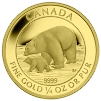 2015 $10 Pure Gold Coin - Polar Bear and Cub