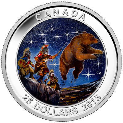 2015 $25 Fine Silver Coin - Star Charts: The Great Ascent