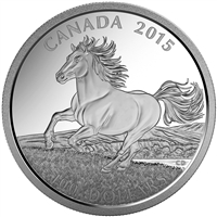 2015 $100 Fine Silver Coin - Canadian Horse