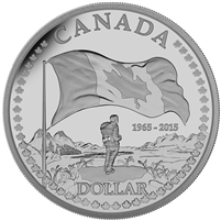 2015 Proof Silver Dollar - The 50th Anniversary of the Canadian Flag