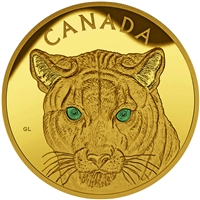 2015 $2500 Pure Gold Coin - In the Eyes of the Cougar