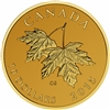 2015 $10 Pure Gold Coin - Maple Leaves with Queen Elizabeth II Effigy (1965)